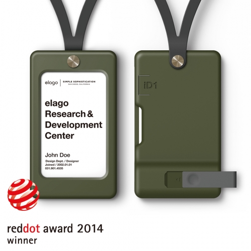 iD1 USB ID Card Holder / Camo Green (not included USB Flash Drive)