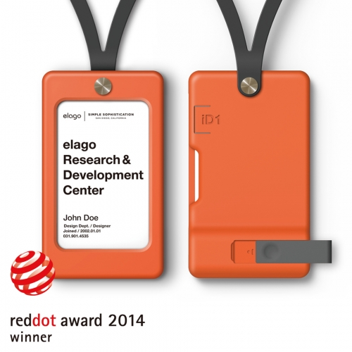 iD1 USB ID Card Holder / Orange (not included USB Flash Drive)