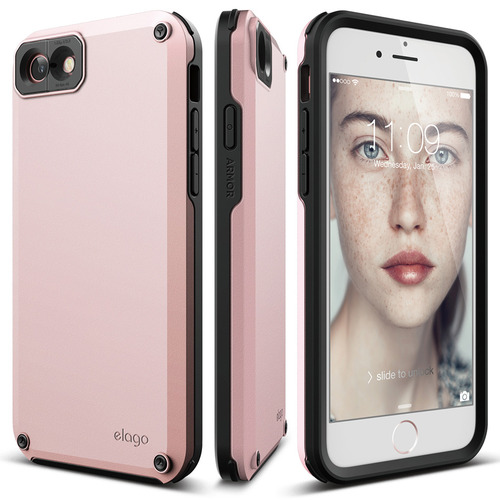 S7 Armor Case for iPhone 8/7- Lovely Pink