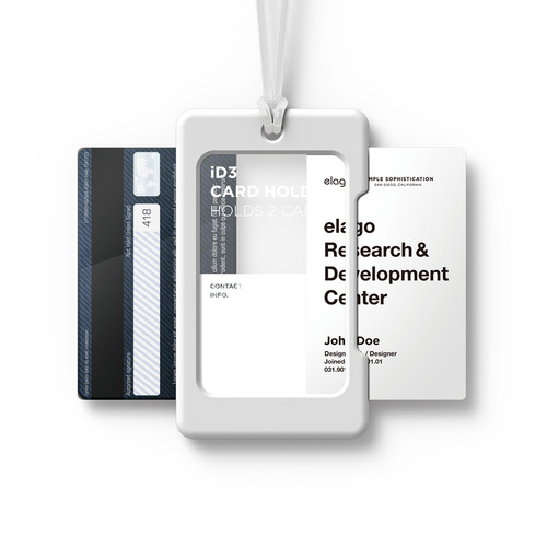 ID3 ID Card Holder - White+Frosted white