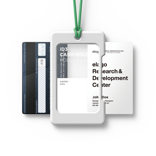 ID3 ID Card Holder - White+Green