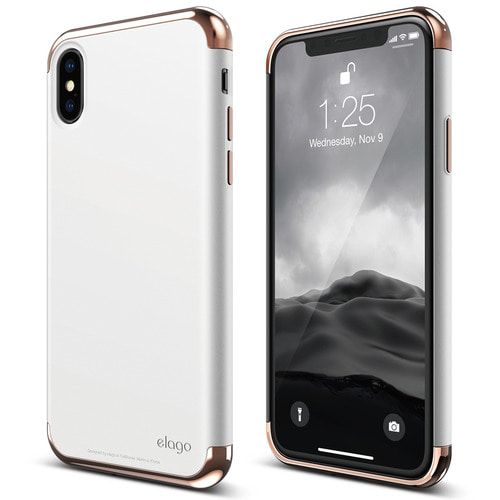IPhone X Empire case - Rose Gold+White