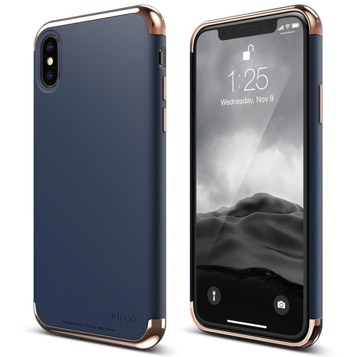 IPhone X Empire case  - Rose Gold+Jean Indigo