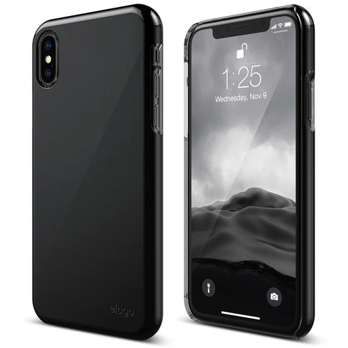 SX Slim Fit 2 case for iPhone X - Jet Black (유광)