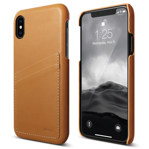 SX Genuine Leather Pocket case for iPhone X - Brown