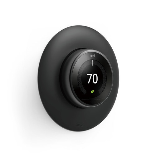 NEST Thermostat Wall Plate Hard Cover -Black