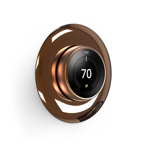 NEST Thermostat Wall Plate Hard Cover -Chrome Bronze