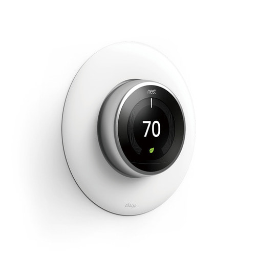 NEST Thermostat Wall Plate Hard Cover -White