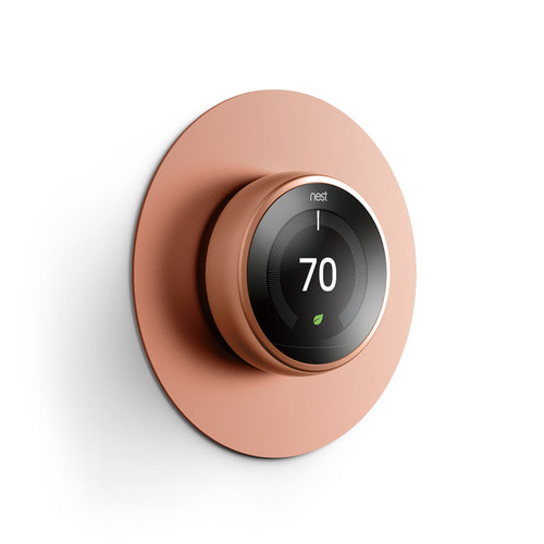 NEST Thermostat Wall Plate Aluminium Cover -Bronze