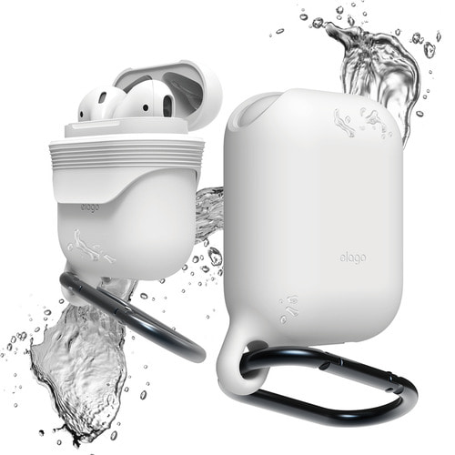 Airpods waterproof hang case / White