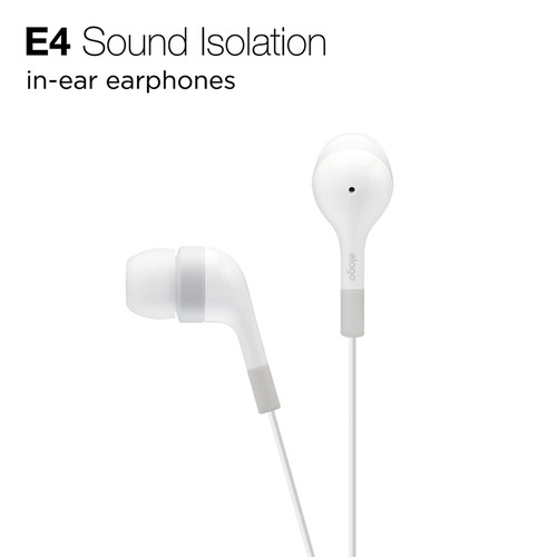 E4  In-Ear Earphones - White