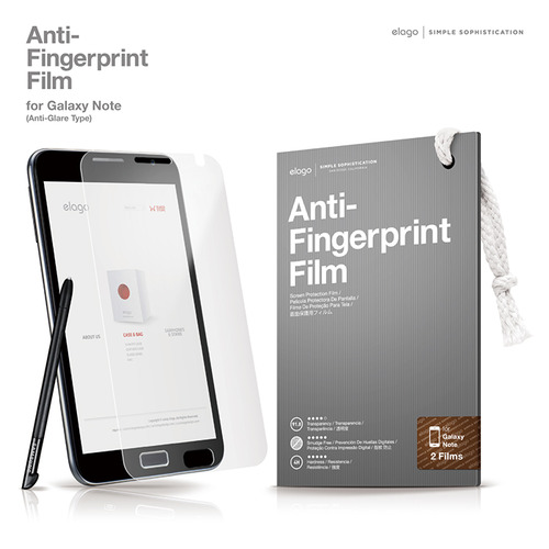 Anti-Finger print(Smudge Free) Film (for Galaxy Note)