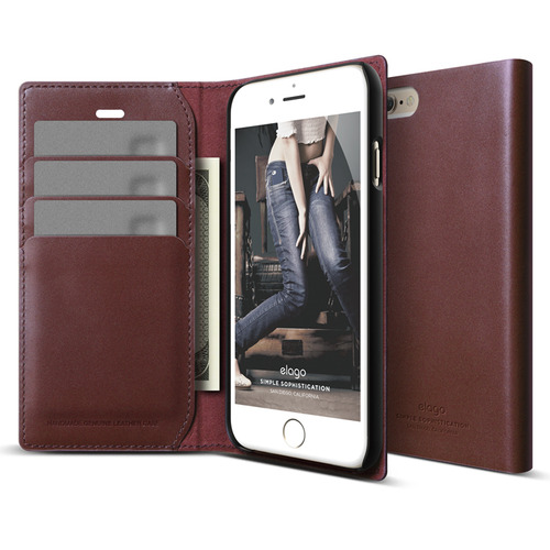 S6P(플러스) Genuine leather wallet case for iPhone 6 /6S Plus (필름포함/천연가죽)/ Burgundy
