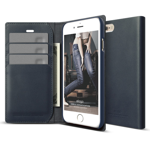 S6P(플러스) Genuine leather wallet case for iPhone 6 /6S Plus(필름포함/천연가죽)/ Jean indigo